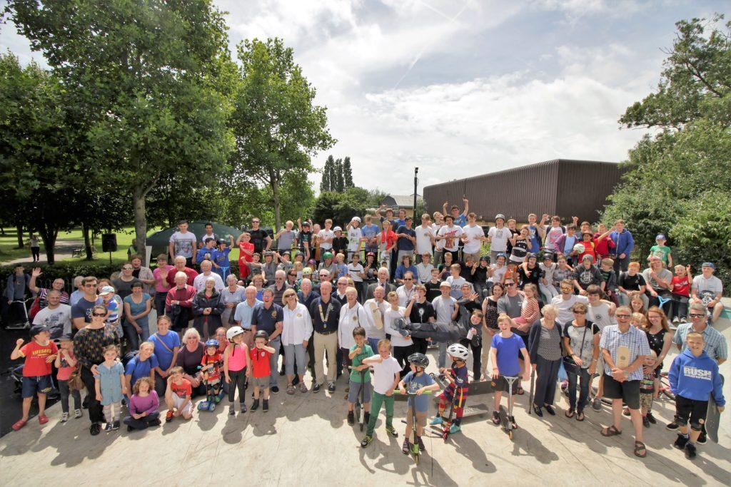 Skatepark OPening Group Shot